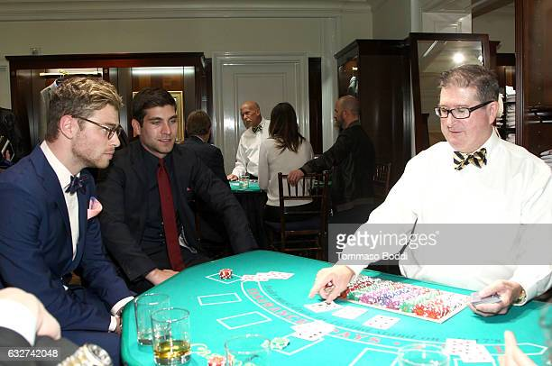 Actors Cameron Fuller and David Bernon attends Le Casino night hosted by Brooks Brothers in Beverly Hills to benefit UCLA Jonsson Cancer Center...