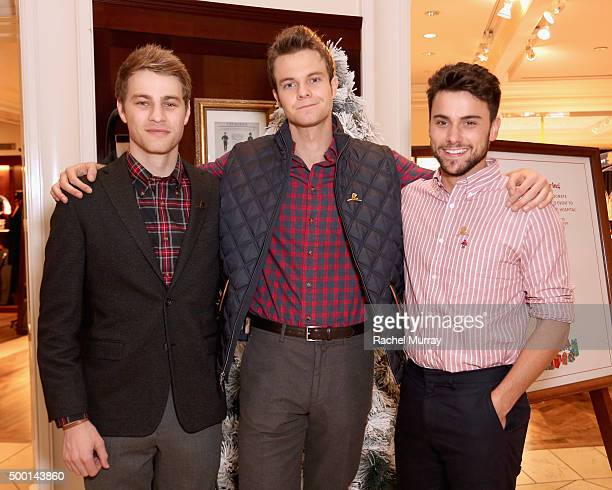 Actors Cameron Fuller Jack Quaid and attend the Brooks Brothers holiday party with St Jude Children's Research Hospital at Brooks Brothers on Rodeo...
