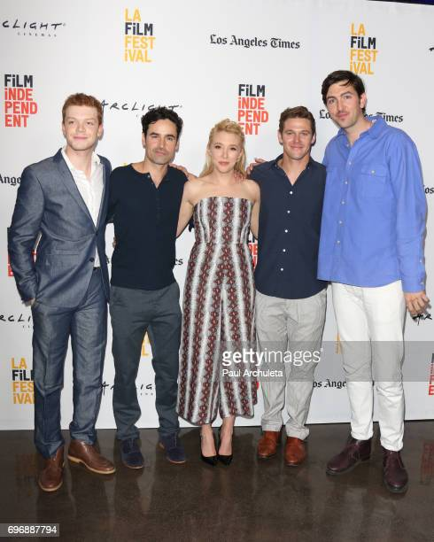 Actors Cameron Monaghan Jesse Bradford Madelyn Deutch Zach Roerig and Nicholas Braun attend the 2017 Los Angeles Film Festival premiere Of 'The Year...