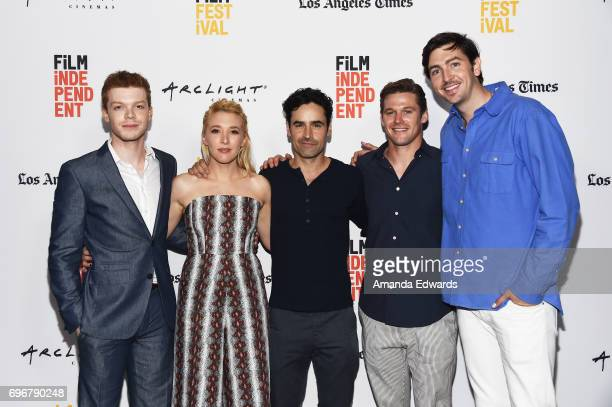 Actors Cameron Monaghan Madelyn Deutch Jesse Bradford Zach Roerig and Nicholas Braun attend the 2017 Los Angeles Film Festival premiere of 'The Year...