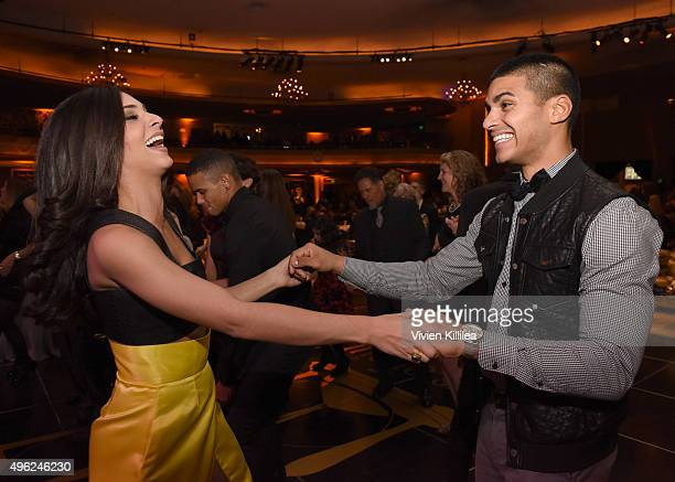 Actors Camila Banus and Marlon Aquino attend the Days Of Our Lives' 50th Anniversary Celebration at Hollywood Palladium on November 7 2015 in Los...