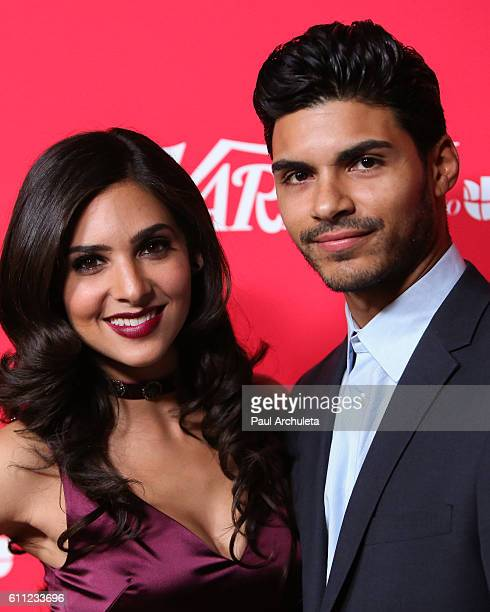 Actors Camila Banus and Marlon Aquino attend Variety's 10 Latinos To Watch ceremony at The London West Hollywood on September 28 2016 in West...