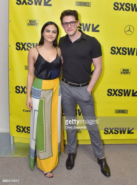 Actors Camila Mendes and Casey Cott attend the premiere of First Light during SXSW at Alamo Lamar on March 10 2018 in Austin Texas