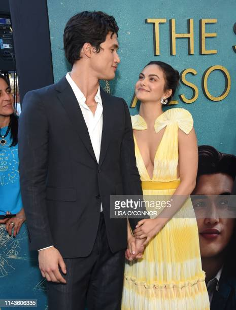 US actors Camila Mendes and Charles Melton arrive for the premiere of The Sun Is Also A Star world premiere at Pacific Theaters at The Grove in Los...