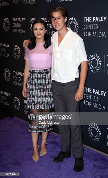 Actors Camila Mendes and Cole Sprouse attend the 2017 PaleyLive LA Spring Season 'Riverdale' screening and conversation at The Paley Center for Media...