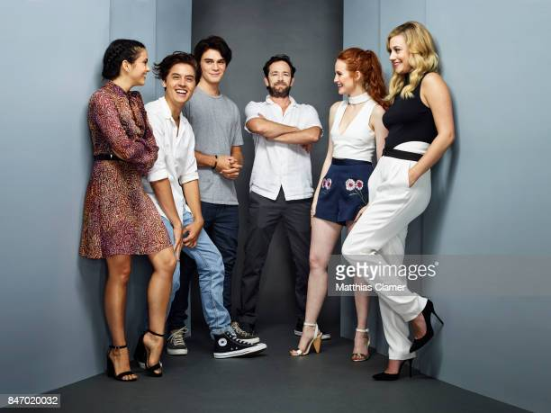 Actors Camila Mendes Cole Sprouse KJ Apa Luke Perry Madelaine Petsch and Lili Reinhart from 'Riverdale' are photographed for Entertainment Weekly...