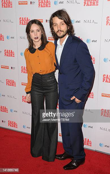 Actors Camila Sodi and Diego Luna arrive at the premiere of Pantelion Films' 'Casa De Mi Padre' at Grauman's Chinese Theatre on March 14 2012 in...