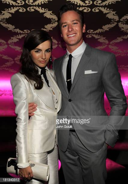 Actors Camilla Belle and Armie Hammer attend the after party for the 2011 Young Hollywood Awards presented by Bing at Club Nokia on May 20 2011 in...