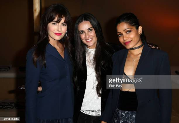 Actors Camilla Belle Demi Moore and Freida Pinto attend the Christian Dior Cruise 2018 Runway Show at the Upper Las Virgenes Canyon Open Space...