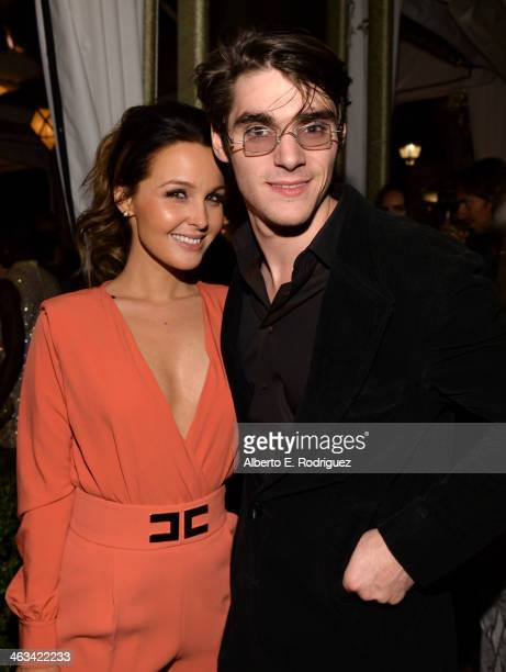 Actors Camilla Luddington and RJ Mitte attend the Entertainment Weekly celebration honoring this year's SAG Awards nominees sponsored by TNT TBS and...
