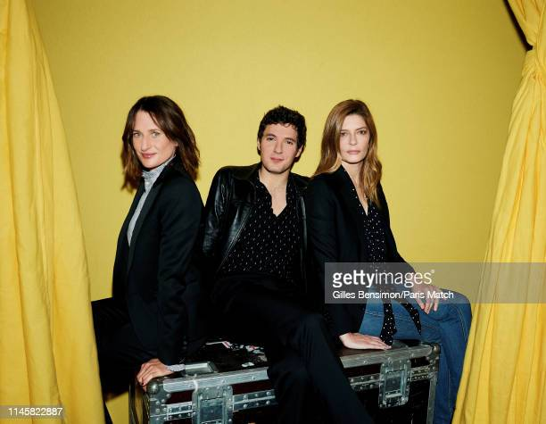 Actors Camille Cottin Vincent Lacoste and Chiara Mastroianni are photographed for Paris Match on May 19 2019 in Cannes France