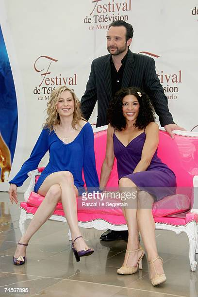 Actors Camille Sullivan John Cassini and Klea Scott attend a photocall promoting the television serie 'Intelligence' on the second day of the 2007...