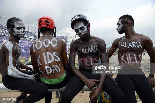 Actors campaign against malaria disease under the auspices of Moskeeto Armor a mosquito repellent fabric in Lagos on April 24 2015 Moskeeto Armor a...