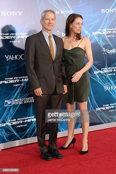 Actors Campbell Scott and Kathleen McElfresh attend The Amazing SpiderMan 2 premiere at the Ziegfeld Theater on April 24 2014 in New York City