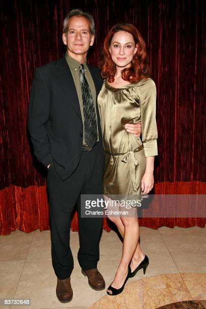 Actors Campbell Scott and Kathleen McElfresh attends the 2008 Williamstown Theatre Festival gala honoring Lewis Black at Cipriani 23rd Street on...