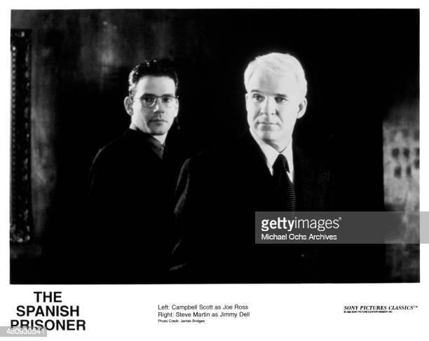 """Actors Campbell Scott and Steve Martin in a scene from the movie """"The Spanish Prisoner"""", circa 1997."""