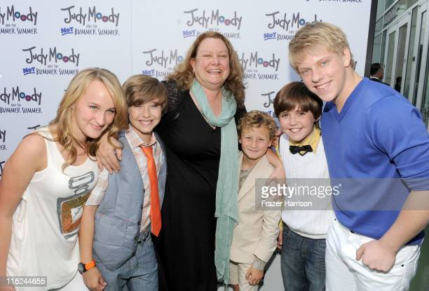 Actors Camryn Magness and Garrett Ryan Author/Screenwriter Megan McDonald actors Parris Mosteller Preston Bailey and Jackson Odell arrive at the...