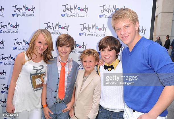 Actors Camryn Magness and Garrett Ryan Parris Mosteller Preston Bailey and Jackson Odell arrive at the premiere of Relativity Media's Judy Moody And...