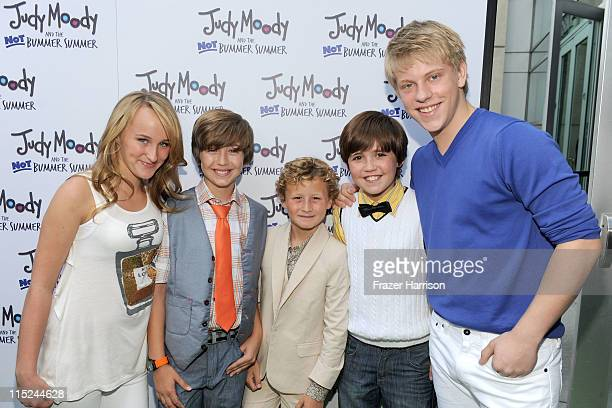 Actors Camryn Magness Garrett Ryan Parris Mosteller Preston Bailey and Jackson Odell arrive at the premiere of Relativity Media's Judy Moody And The...