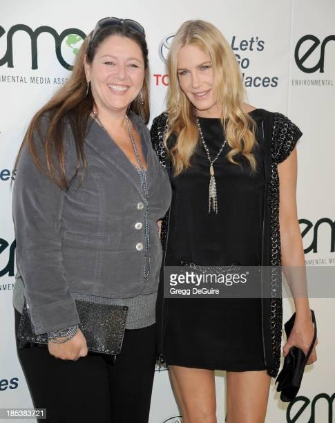 Actors Camryn Manheim and Daryl Hannah arrive at the 2013 Environmental Media Awards at Warner Bros Studios on October 19 2013 in Burbank California