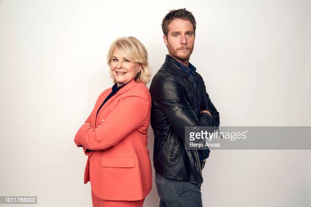 Actors Candice Bergen and Jake McDorman of CBS's 'Murphy Brown' pose for a portrait during the 2018 Summer Television Critics Association Press Tour...