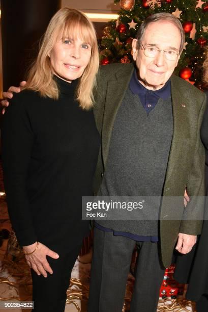 Actors Candice Patou and Robert Hossein attend 'Heros en Mer' Patrick and Olivier Poivre d'Arvor Book Signing at Hotel Courtyard Mariott Boulogne...