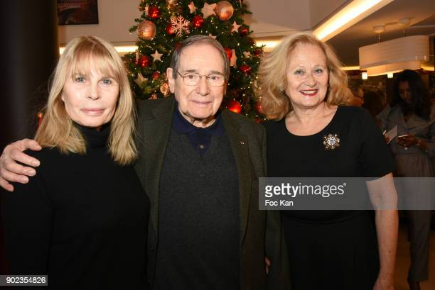 Actors Candice Patou Robert Hossein and Katia Tchenko attend 'Heros en Mer' Patrick and Olivier Poivre d'Arvor Book Signing at Hotel Courtyard...