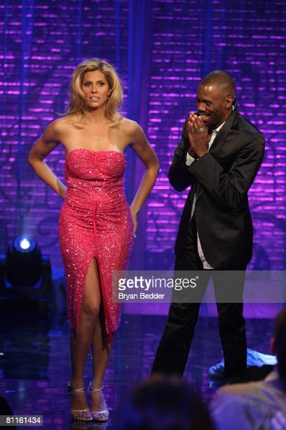 Actors Candis Cayne and Colman Domingo appear onstage the 2008 NewNowNext Awards at the MTV studios on May 19 2008 in New York City