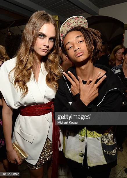 "Actors Cara Delevingne and Jaden Smith attend the afterparty for WSJ. Magazine and Forevermark host a special Los Angeles screening of ""Paper Towns""..."
