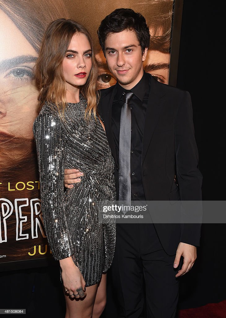 Actors Cara Delevingne and Nat Wolff attend the 'Paper Towns' New York Premiere at AMC Loews Lincoln Square on July 21, 2015 in New York City.