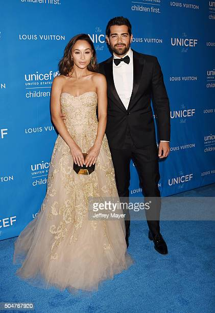Actors Cara Santana and Jesse Metcalfe arrive at the 6th Biennial UNICEF Ball at the Beverly Wilshire Four Seasons Hotel on January 12 2016 in...