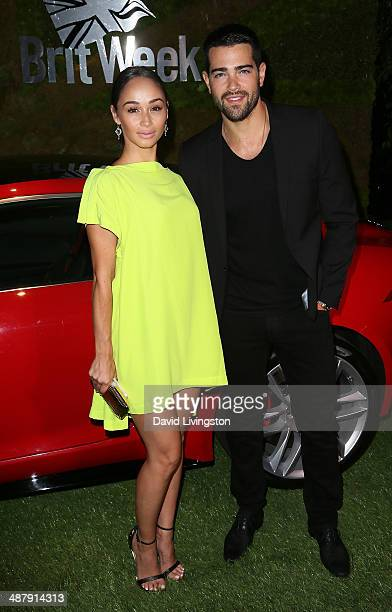 Actors Cara Santana and Jesse Metcalfe attend A Villainous Affair presented by Jaguar North America and BritWeek at the London West Hollywood on May...