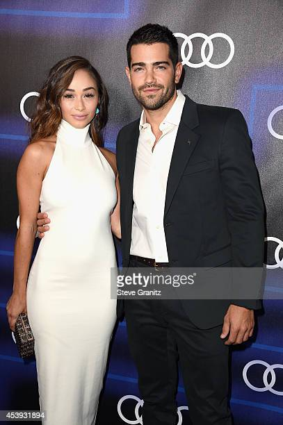 Actors Cara Santana and Jesse Metcalfe attend Audi Emmy Week Celebration at Cecconi's Restaurant on August 21 2014 in Los Angeles California