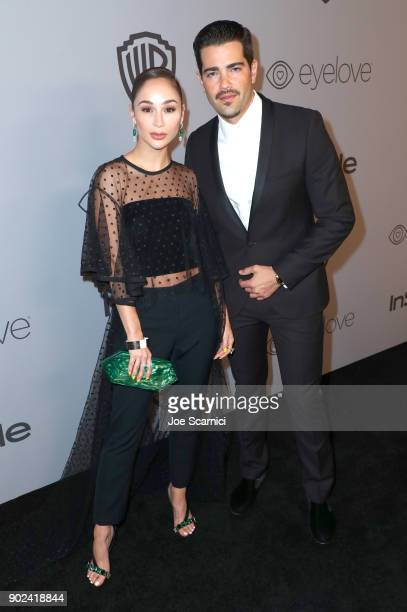 Actors Cara Santana and Jesse Metcalfe attend the 2018 InStyle and Warner Bros 75th Annual Golden Globe Awards PostParty at The Beverly Hilton Hotel...