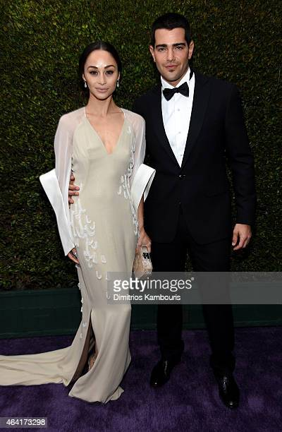 Actors Cara Santana and Jesse Metcalfe attend the 23rd Annual Elton John AIDS Foundation Academy Awards Viewing Party on February 22 2015 in Los...
