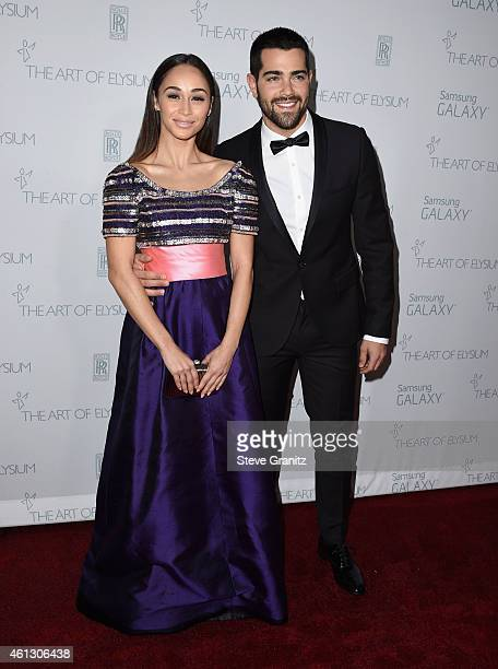 Actors Cara Santana and Jesse Metcalfe attend The Art of Elysium 8th Annual Heaven Gala at Hangar 8 on January 10 2015 in Santa Monica California