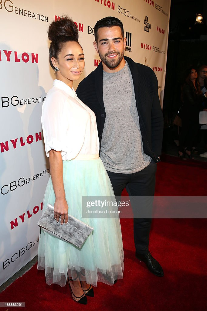 Actors Cara Santana (L) and Jesse Metcalfe attend the Nylon + BCBGeneration May Young Hollywood Party at Hollywood Roosevelt Hotel on May 8, 2014 in Hollywood, California.