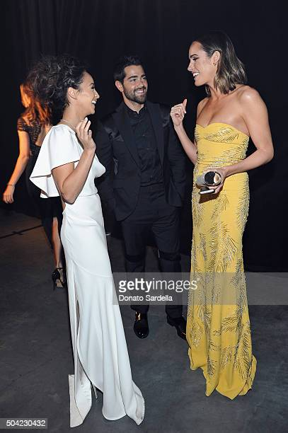 Actors Cara Santana Jesse Metcalfe and TV personality Louise Roe attend The Art of Elysium 2016 HEAVEN Gala presented by Vivienne Westwood Andreas...