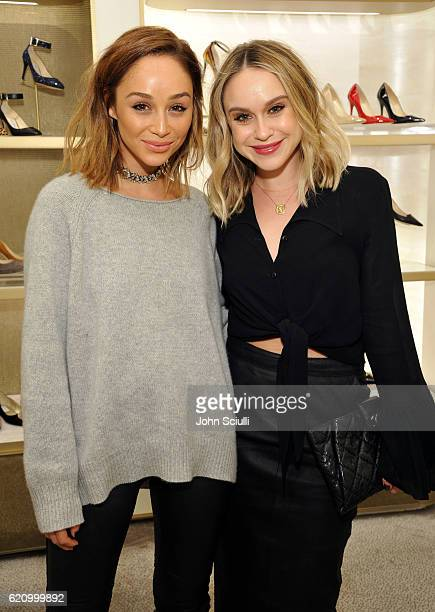 Actors Cara Santna and Becca Tobin attend Jimmy Choo in association with Cindy Crawford and Katharina Harf to host an evening to support Delete Blood...