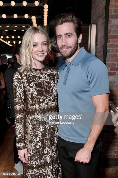 Actors Carey Mulligan and Jake Gyllenhaal attend the after party for Wildlife during the 56th New York Film Festival at The Ribbon on September 30...