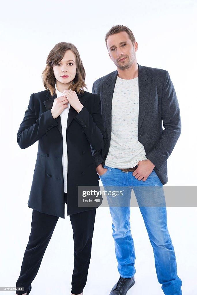 Carey Mulligan and Matthias Schoenaerts, USA Today, April 28, 2015 : News Photo