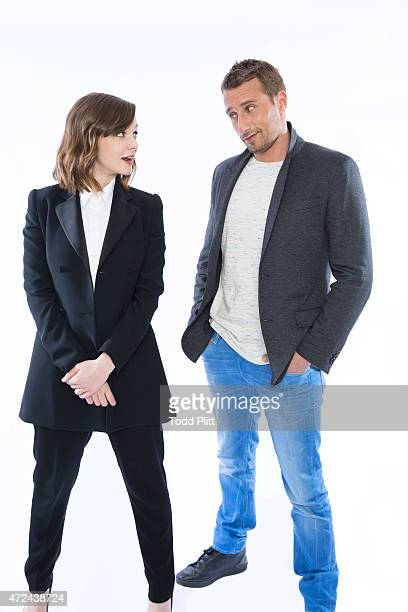Actors Carey Mulligan and Matthias Schoenaerts are photographed for USA Today on April 19 2015 in New York City PUBLISHED IMAGE