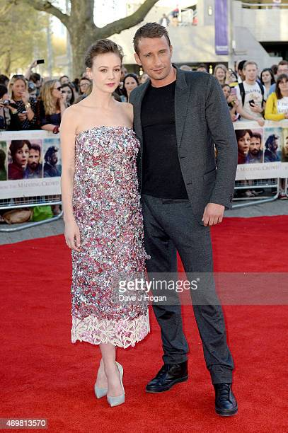 Actors Carey Mulligan and Matthias Schoenaerts attend the World Premiere of Far From The Madding Crowd at BFI Southbank on April 15 2015 in London...