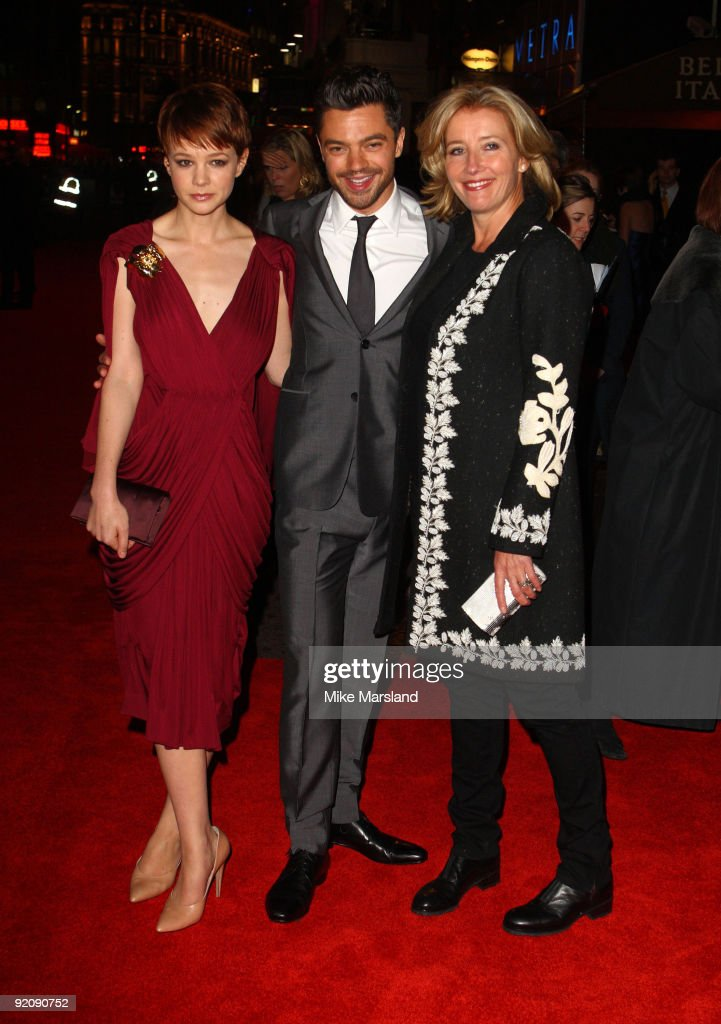 Actors Carey Mulligan, Dominic Cooper and Emma Thompson attend the Gala screening of 'An Education' during The Times BFI London Film Festival at Vue West End on October 20, 2009 in London, England.