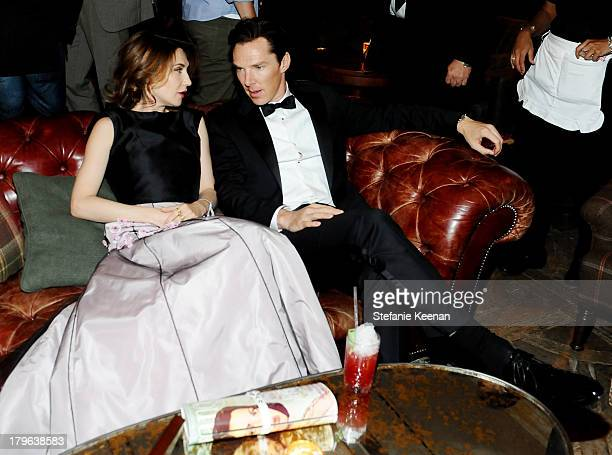Actors Carice van Houten and Benedict Cumberbatch at the Grey Goose vodka party for Michael Sugar at Soho House Toronto on September 5 2013 in...