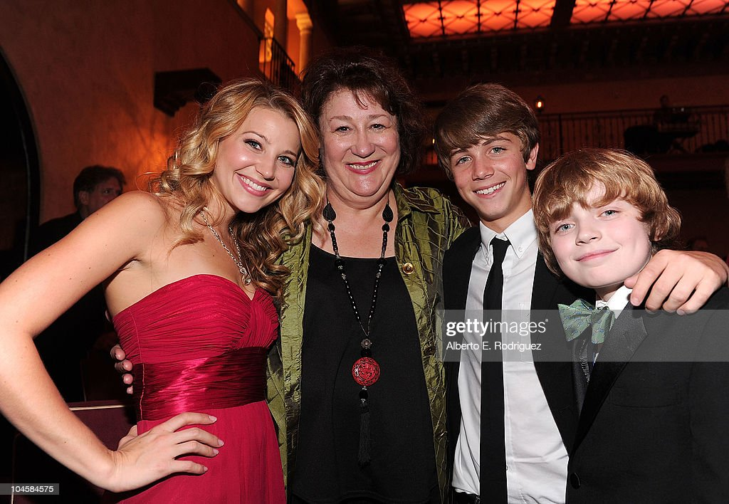 Actors Carissa Capobianco, Margo Martindale, Sean Michael Cunningham, and Jacob Rhodes attend the premiere of Walt Disney Pictures' 'Secretariat' after party at the on September 30, 2010 in Hollywood, California.