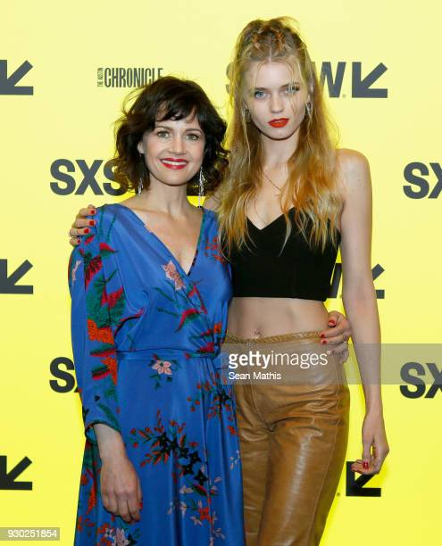 Actors Carla Gugino and Abbey Lee attend the premiere of Elizabeth Harvest during at Alamo Lamar on March 10 2018 in Austin Texas