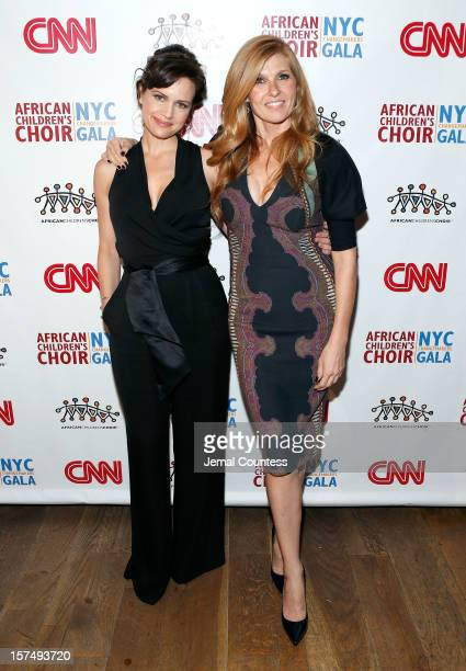 Actors Carla Guigino and Connie Britton attend 4th Annual African Children's Choir Fundraising Gala at City Winery on December 3 2012 in New York City