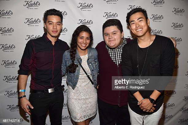 Actors Carlin James Hannah Elane Jovan Armand and Robert Ryu attend Film Independent's Project Invovle Shorts at The Grove on July 23 2015 in Los...