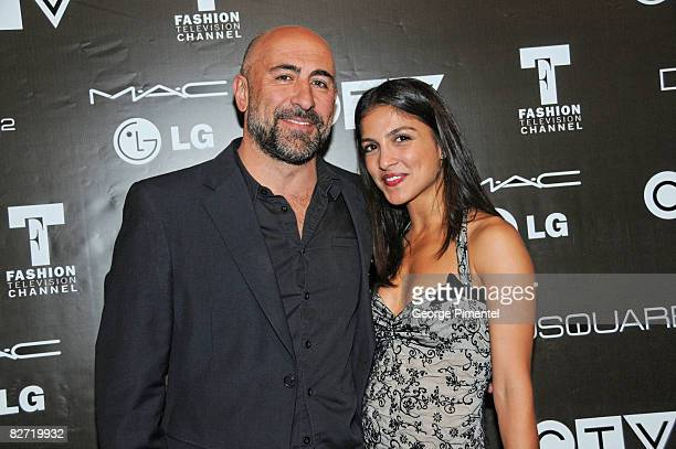 Actors Carlo Rota and Nazneen Carpenter attend the MAC GOLD FEVER AFTER PARTY at the Chum/City TV Building on September 7 2008 in Toronto Canada